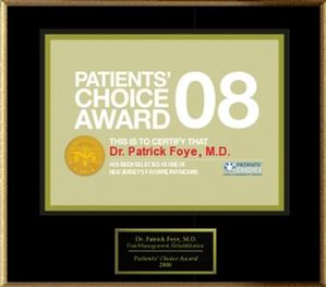 Patient Choice Award, Tailbone Pain Doctor