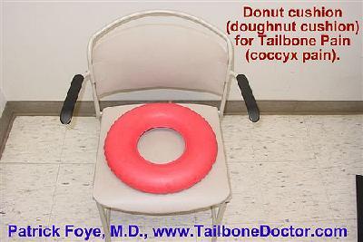 Tailbone Donut Cushion, for coccyx pain, tailbone pain, coccydynia