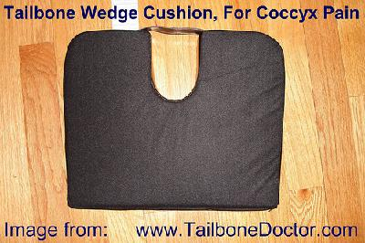 Tailbone Wedge Cushion, coccyx pain, tailbone pain