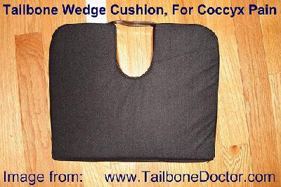 Tailbone Wedge Cushion, for coccyx pain, tailbone pain, coccydynia