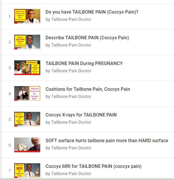 Playlist, Coccyx Pain, Tailbone Pain, Patrick Foye