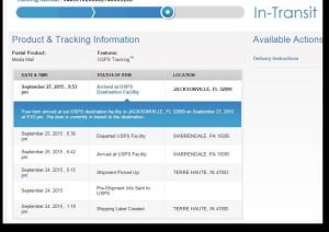 Tailbone Book Shipment Tracking, shipwreck