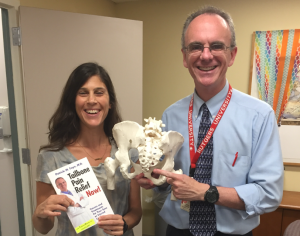 Niva Herzig PT with Patrick Foye MD, after Dr. Foye's lecture on Tailbone Pain, for the American Physical Therapy Association's New Jersey Chapter, Women's Health Special Interest Group