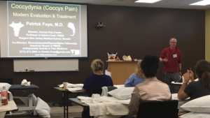 Dr Foye Gives a Lecture on Coccyx Pain (Tailbone Pain) to Pelvic Floor Physical Therapists