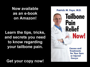 Get your copy of the book, Tailbone Pain Relief Now!