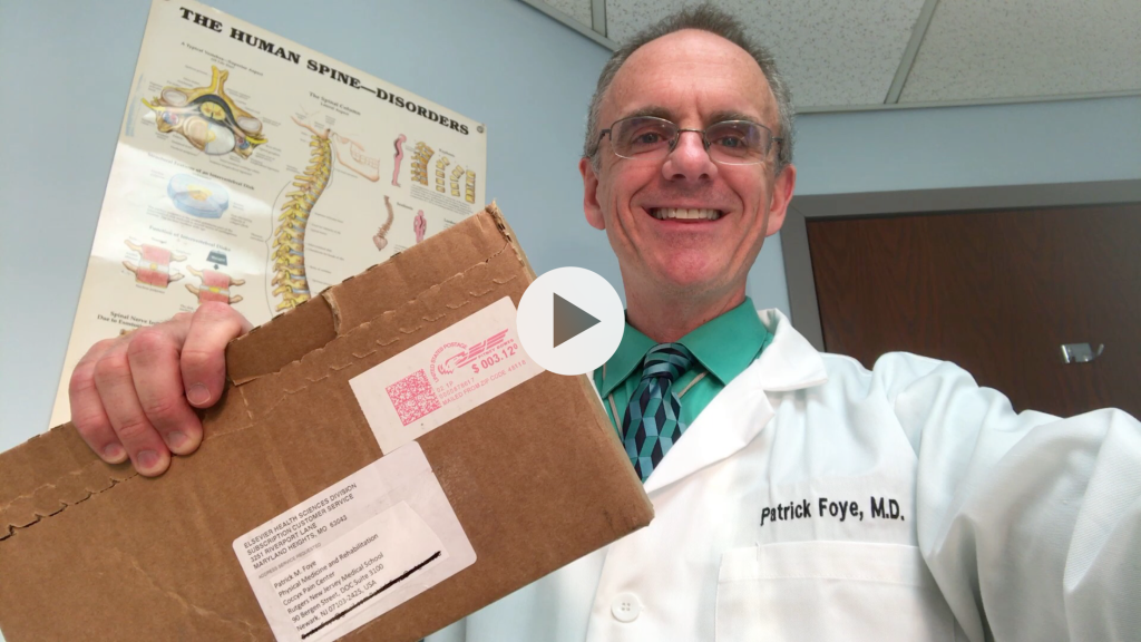 Unboxing Tailbone Pain PMR Clinics of NA, screenshot, closer