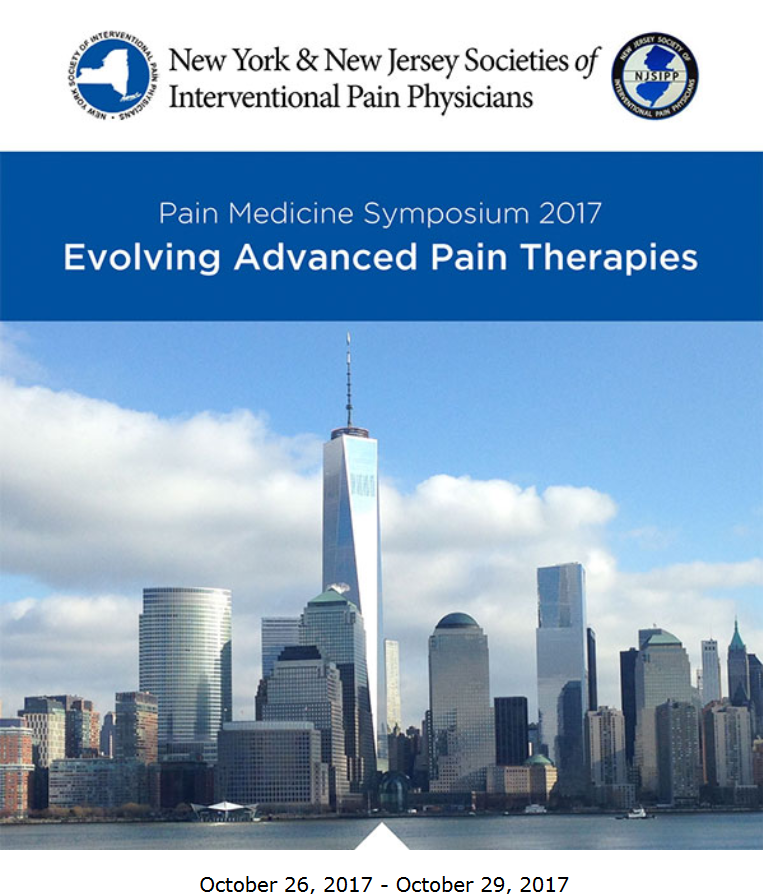 Conference, NJSIPP, NYSIPP, New York and New Jersey Society of Interventional Pain Physicians, 2017