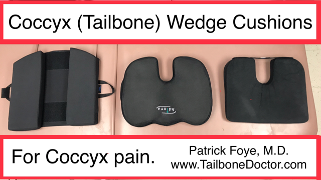 Coccyx Wedge Cushions for Tailbone Pain, Coccyx Pain