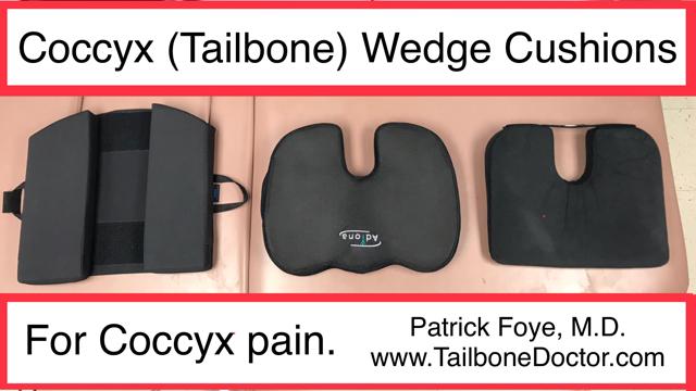 Coccyx Wedge Cushions for Tailbone Pain, Coccyx Pain, coccydynia
