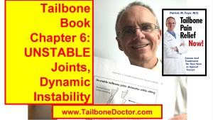 Chapter 6 of Tailbone Pain Book, UNSTABLE JOINTS Causing Coccyx Pain, Hypermobility, Dynamic Instability