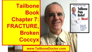 Chapter 7 of Tailbone Pain Book, FRACTURE, Coccyx Pain, Broken Tailbone