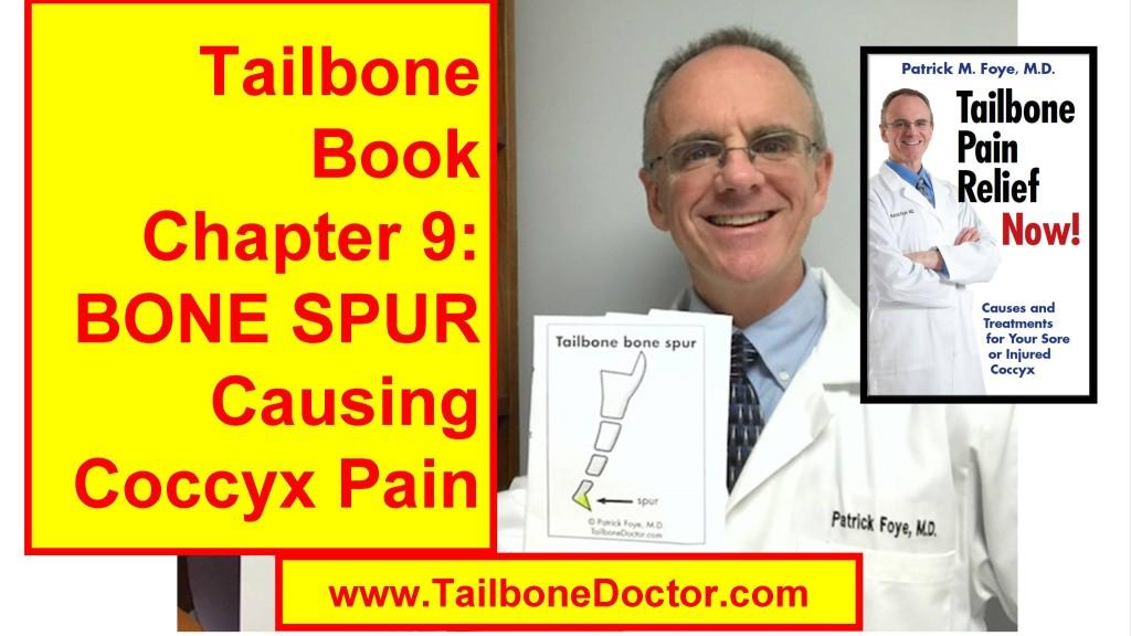 Chapter 9 of Tailbone Pain Book: Coccyx BONE SPUR, Tailbone Spicule