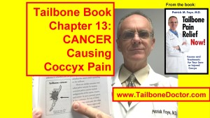 Chapter 13 of Tailbone Pain Book, CANCER Causing Tailbone Pain, Malignancy Causing Coccyx Pain