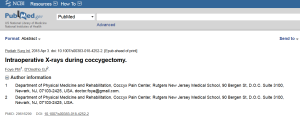 PubMed - X-rays during coccygectomy for coccyx pain, tailbone pain