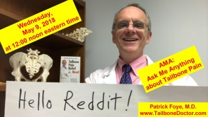 Reddit, AMA Ask Me Anything about Tailbone Pain, Coccyx Pain, Coccydynia