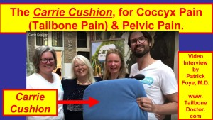 Carrie Cushion, Interview with the Creators, for Coccyx Pain, Pelvic Pain, Netherlands