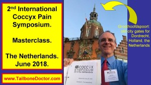 Patrick Foye, MD, after Masterclass, International Coccyx Pain Symposium, Groothoofdspoort, Dordrecht, Holland, the Netherlands