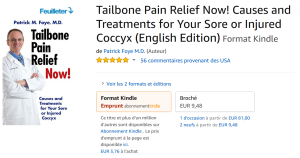 Book on Coccyx Pain, Tailbone Pain, Available on Amazon's French website