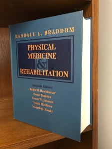 Braddom's Physical Medicine and Rehabilitation textbook, book cover, 1st edition, 1996
