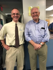 Randall Braddom MD, photo with Patrick Foye MD, August-2-2018
