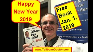 Free eBook for New Year's Day 2019, Tailbone Pain Relief Now, Coccyx Book