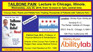 Midwest Tailbone Pain Lecture, Chicago, RIC SRALab, 2019, Patrick Foye MD