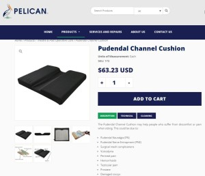 Pelvic Pain, Channel coccyx cushion, from Pelican Manufacturing