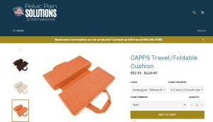 Pelvic Pain, coccyx cushion, trough cushion,  orange color, from pelvicpainsolutions.com