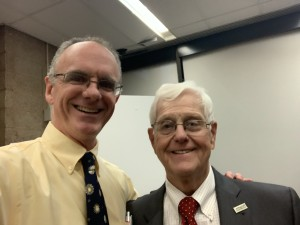 Patrick Foye MD and James Oleske MD, at Dr Oleske's retirement from Rutgers New Jersey Medical School