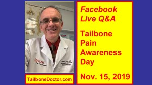 Facebook Live, Tailbone Pain Awareness Day, Dr Foye