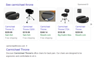 Carmichael Throne, Chairs and Drummer Stools, for Tailbone Pain
