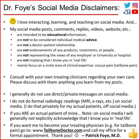 Social Media Disclaimer