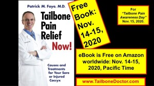 Free Book on Tailbone Pain, Coccyx Pain, Coccydynia, Nov 14-15, 2020.