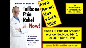 Free Book on Tailbone Pain, Coccyx Pain, Coccydynia, Nov 14-15, 2020.