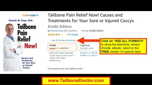 Free e-Book on Tailbone Pain, Coccyx Pain, Coccydynia